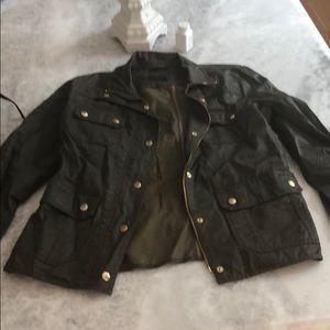 J Crew Boyfriend field jacket- dark green